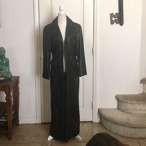 Matrix Leather Coat